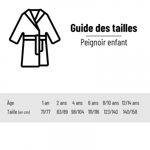 Guide des tailles - Peignoir enfant