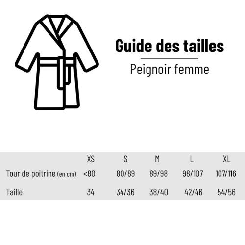 Guide des tailles - Peignoir femme