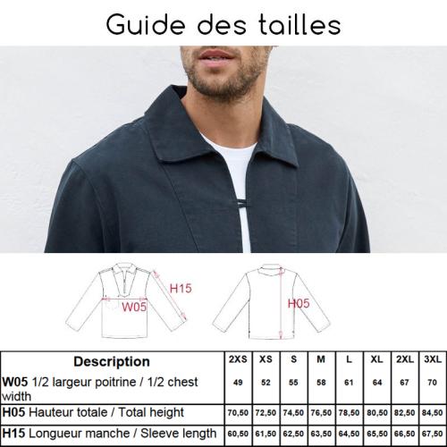 Guide des tailles de Vareuses