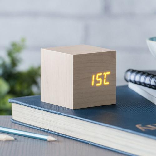 Cube en bois Température