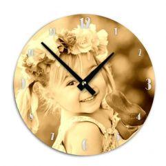 Horloge ronde personnalisée photo