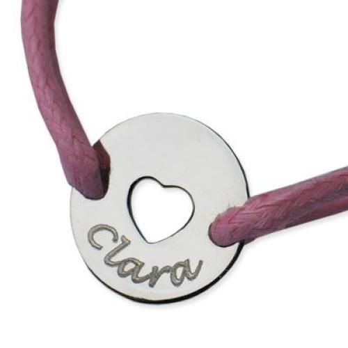 Médaille jeton coeur ajouré gravée