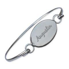 Bracelet jonc ovale personnalisé
