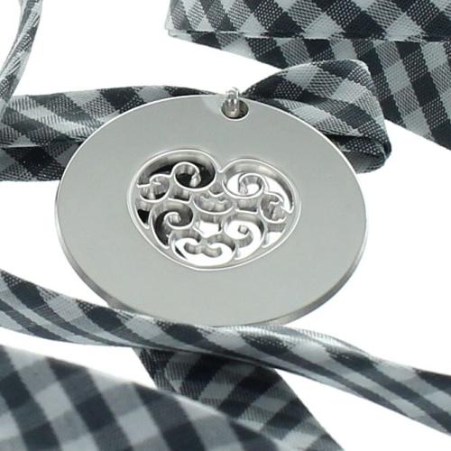 Liberty médaille ronde coeur ajouré