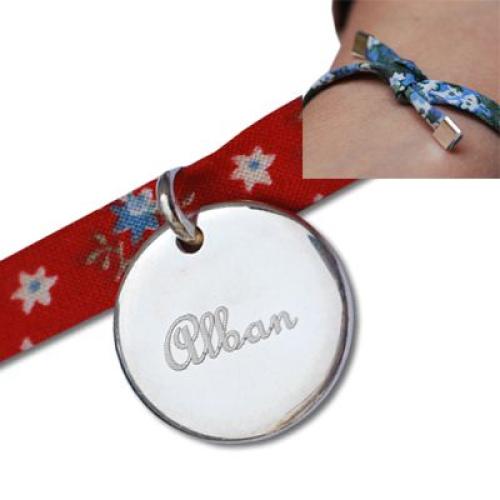Médaille gravée sur ruban Liberty