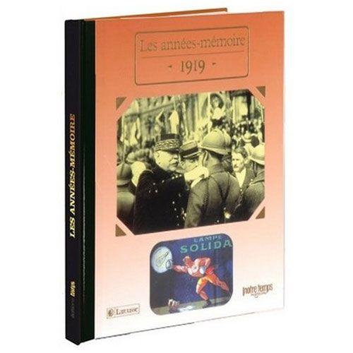 Livres Années Mémoire 1919