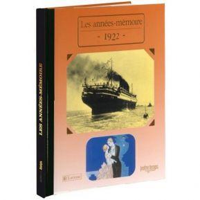Livre mémoire de l'année 1922