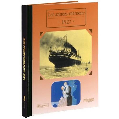 Livres Années Mémoire 1922