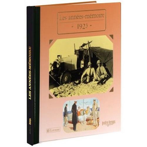 Livres Années Mémoire 1923