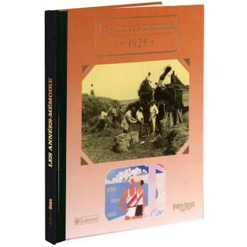 Livres Années Mémoire 1925