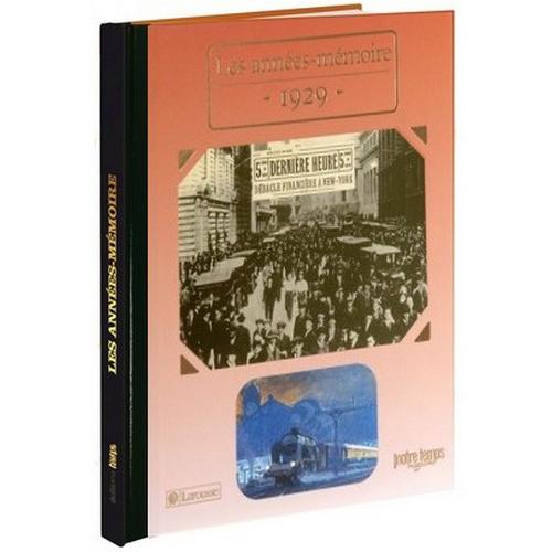 Livres Années Mémoire 1929