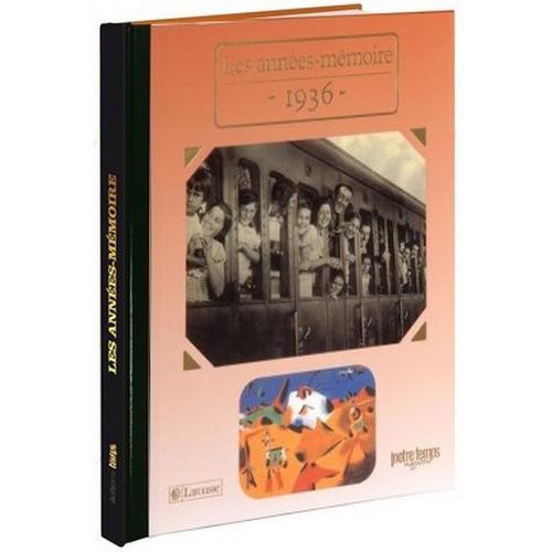 Livres Années Mémoire 1936