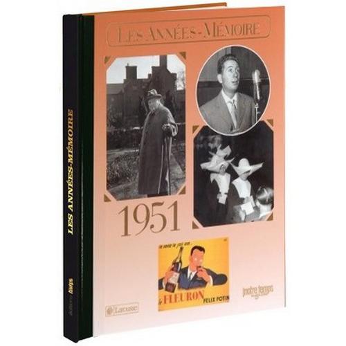 Livre Années Mémoire 1951