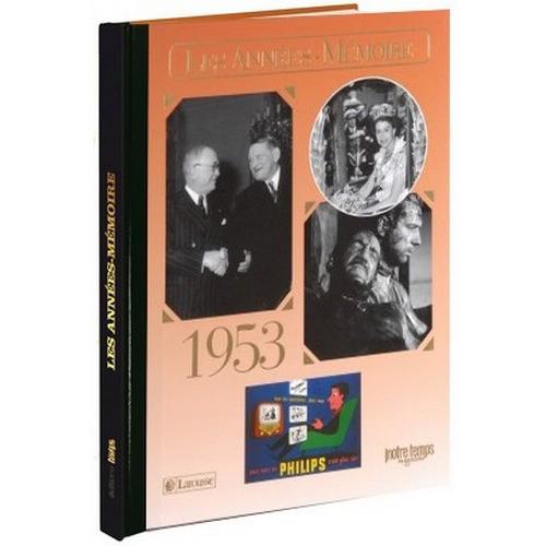Livre Années Mémoire 1953