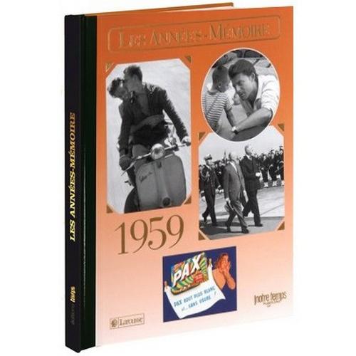 Livre Années Mémoire 1959