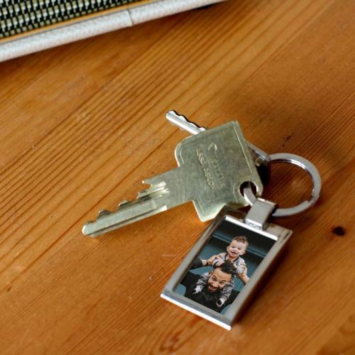 Porte-clés photo papa