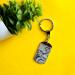 Porte clés personnalisé plaque gravé photo