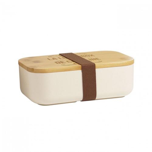 Lunch box en bambou personnalisée prénom