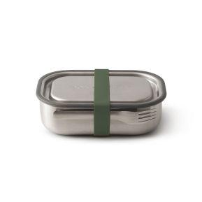 Lunch box en acier vert olive