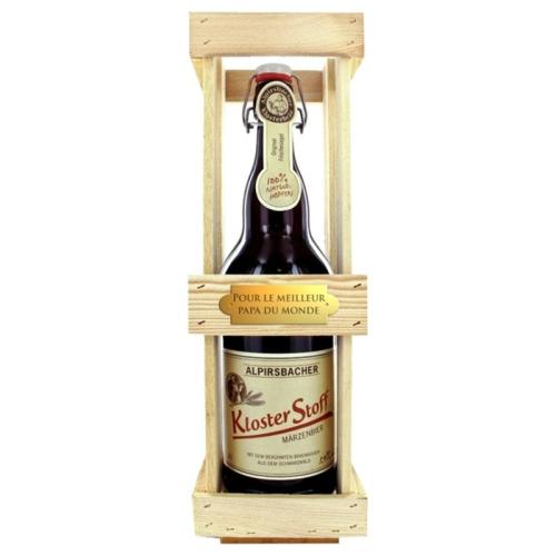 Magnum de bière avec plaque gravée