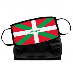 Masque Pays Basque en tissu personnalisé