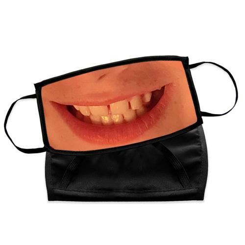 Masque photo avec bouche d'enfant
