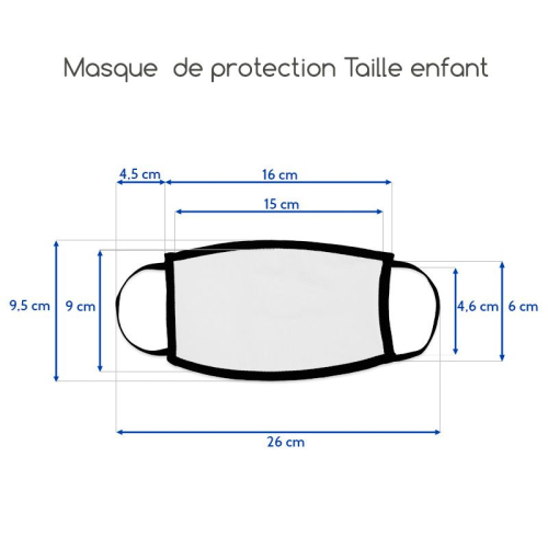 Masque taille efant