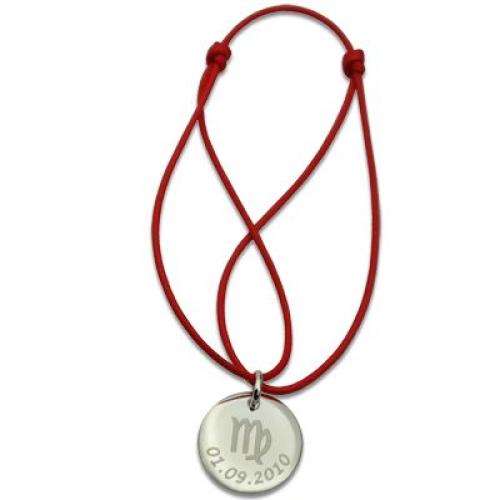 Médaille ronde gravée de votre signe astrologique