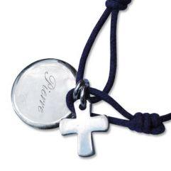 Bracelet baptême gravé