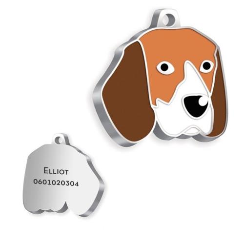 Médaille Beagle gravée