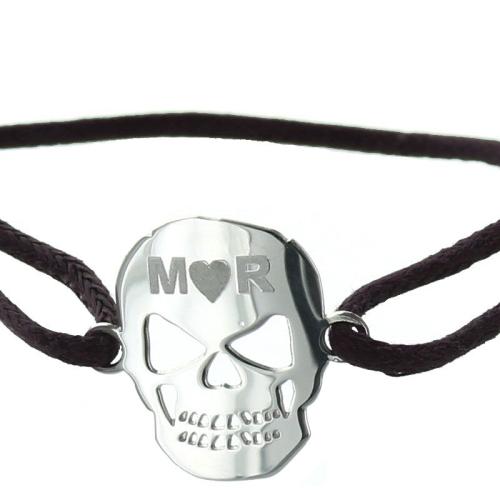 Médaille crâne gravée