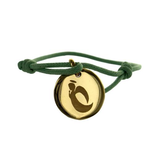 Médaille de baptême personnalisée plaqué or