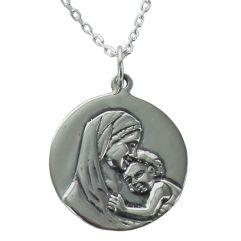 Médaille de baptême Madone personnalisée
