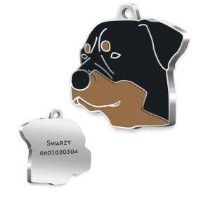 Médaille Rottweiler gravée