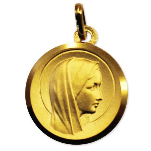 Médaille Vierge jeune en or