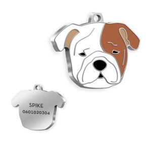 Médaille Bulldog gravée