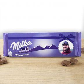 Tablette Milka au lait 270 gr personnalisée photo