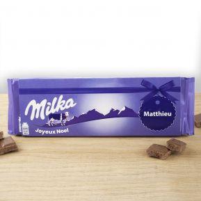 Tablette Milka au lait 270 gr personnalisée prénom