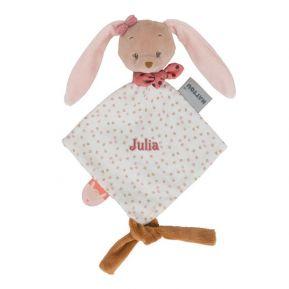 Mini doudou Pauline le lapin personnalisé