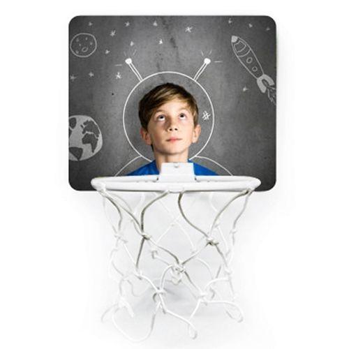 Mini panier de basket personnalisé avec une photo