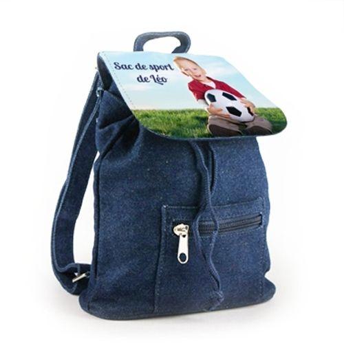 Mini sac à dos en jeans