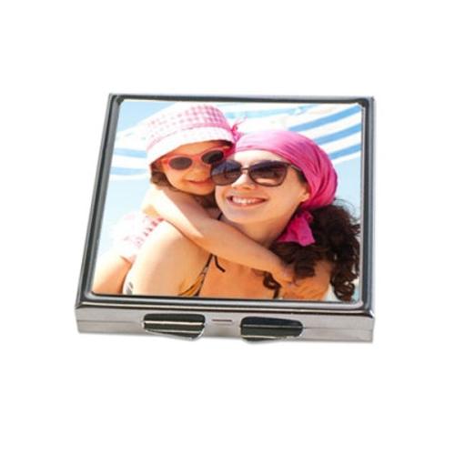 Miroir de poche personnalisé avec une photo