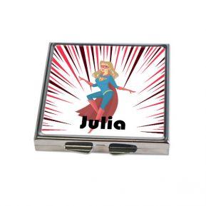 Miroir de poche carré personnalisé Super héros