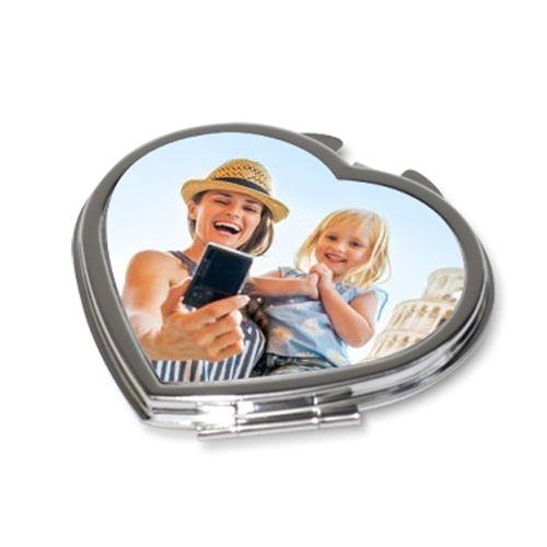 Miroir personnalisé photo en forme de coeur