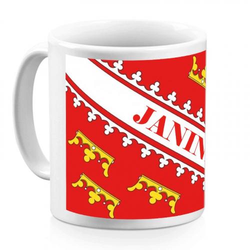 Mug alsacien personnalisé d'un prénom