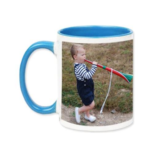 Mug bleu avec photo