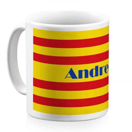 Mug catalan personnalisé avec un prénom