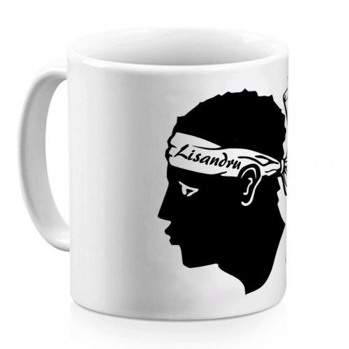 Mug corse personnalisé avec un prénom