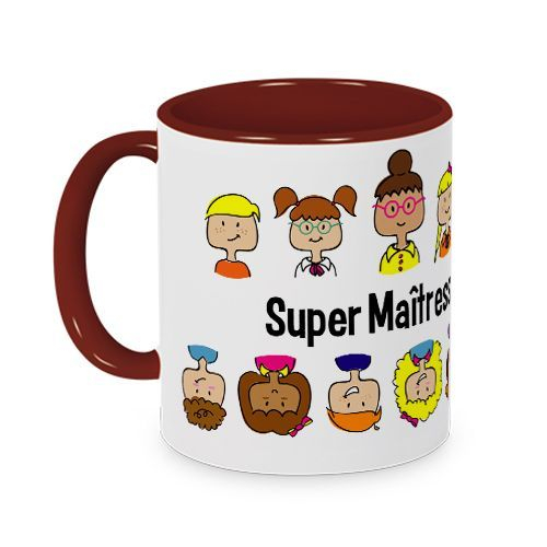Mug couleur Merci Maîtresse