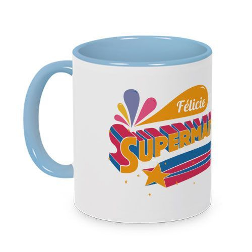 Mug couleur  Super maîtresse personnalisé